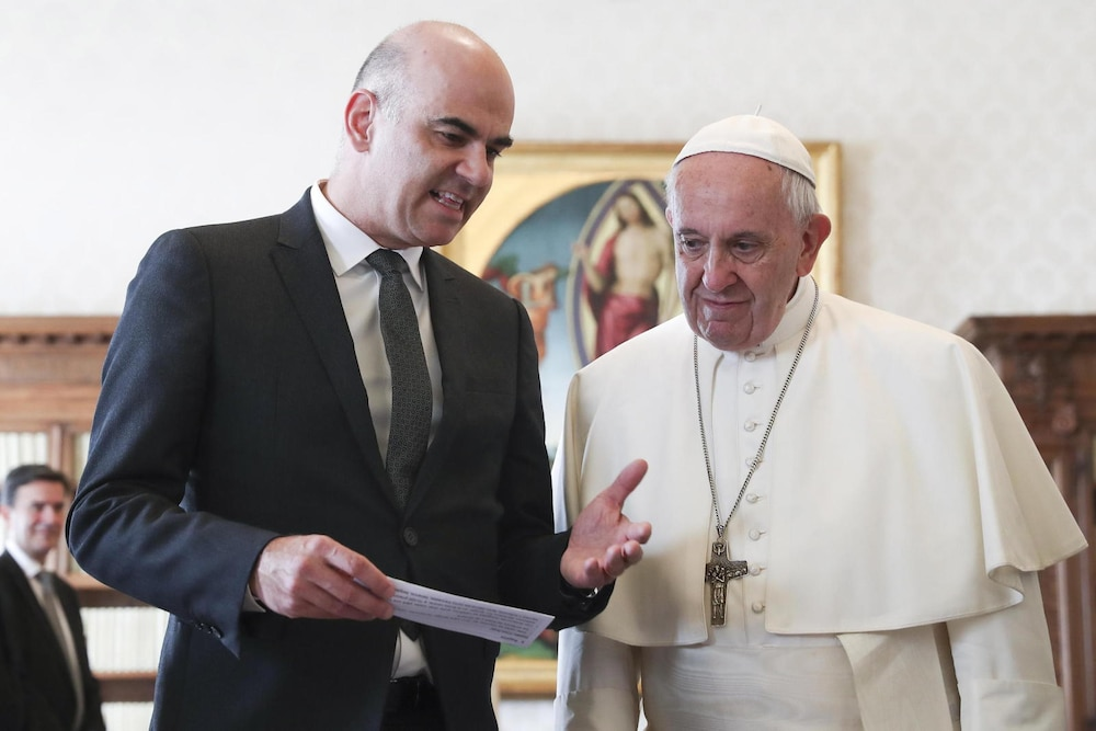 Bundespräsident Berset trifft Papst im Vatikan