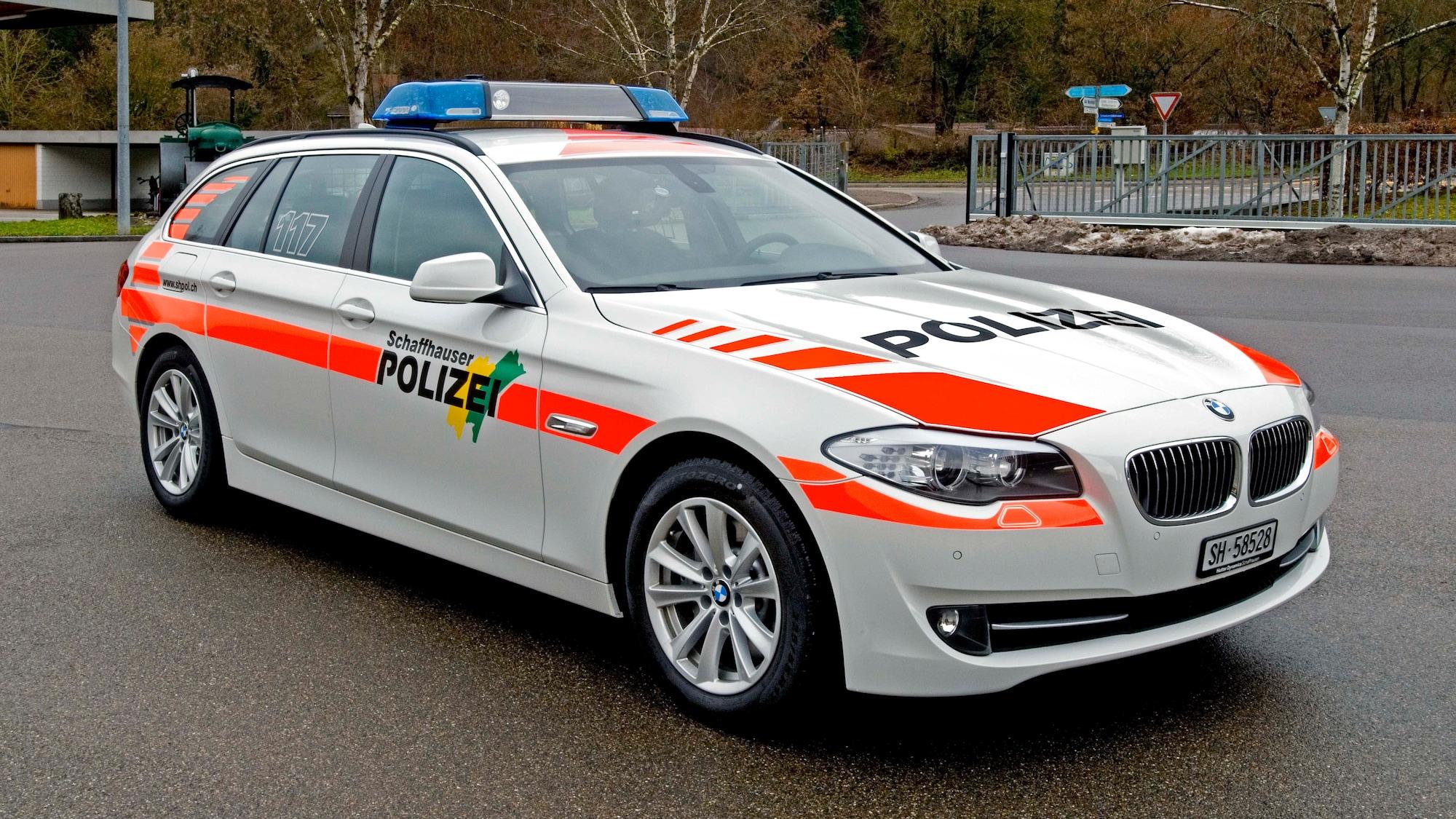 Personenwagen involviert: Schaffhauser Polizisten in Unfall verwickelt