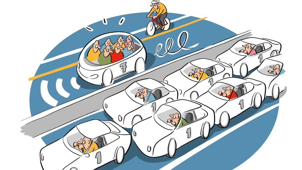 Automatisierte Autos sollen neue Autobahnen nicht verstopfen