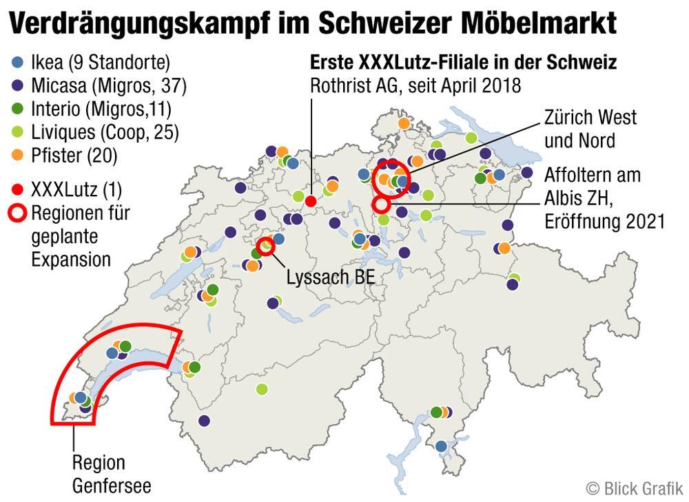 Xxxlutz Baut Zweite Filiale ösis Möbeln Die Schweiz Auf Blick