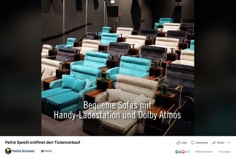 Neues Pathé Im Shoppi Tivoli Betten Im Kinosaal Blick