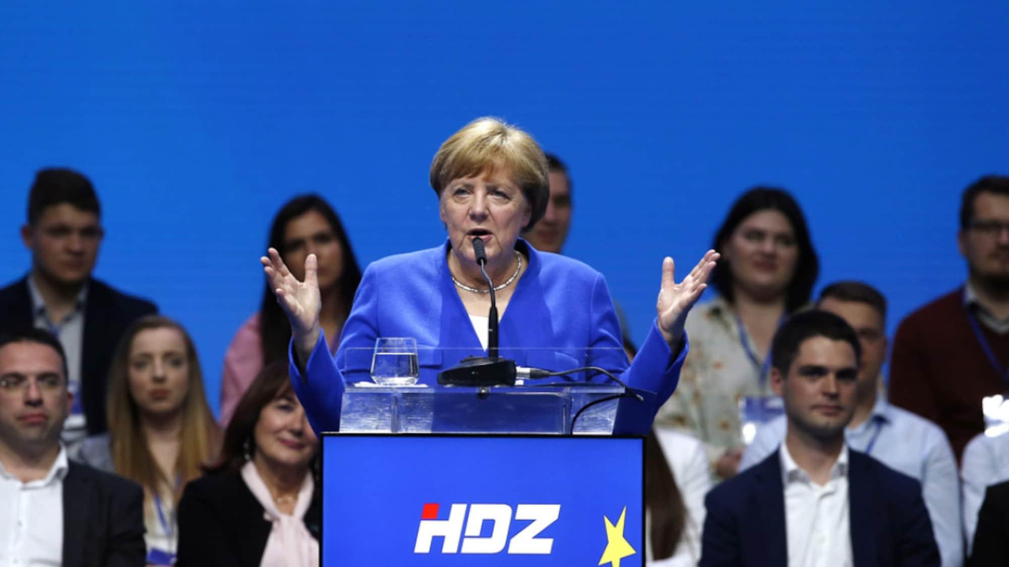 Europawahl: Merkel und Weber stellen sich in Zagreb gegen Nationalismus