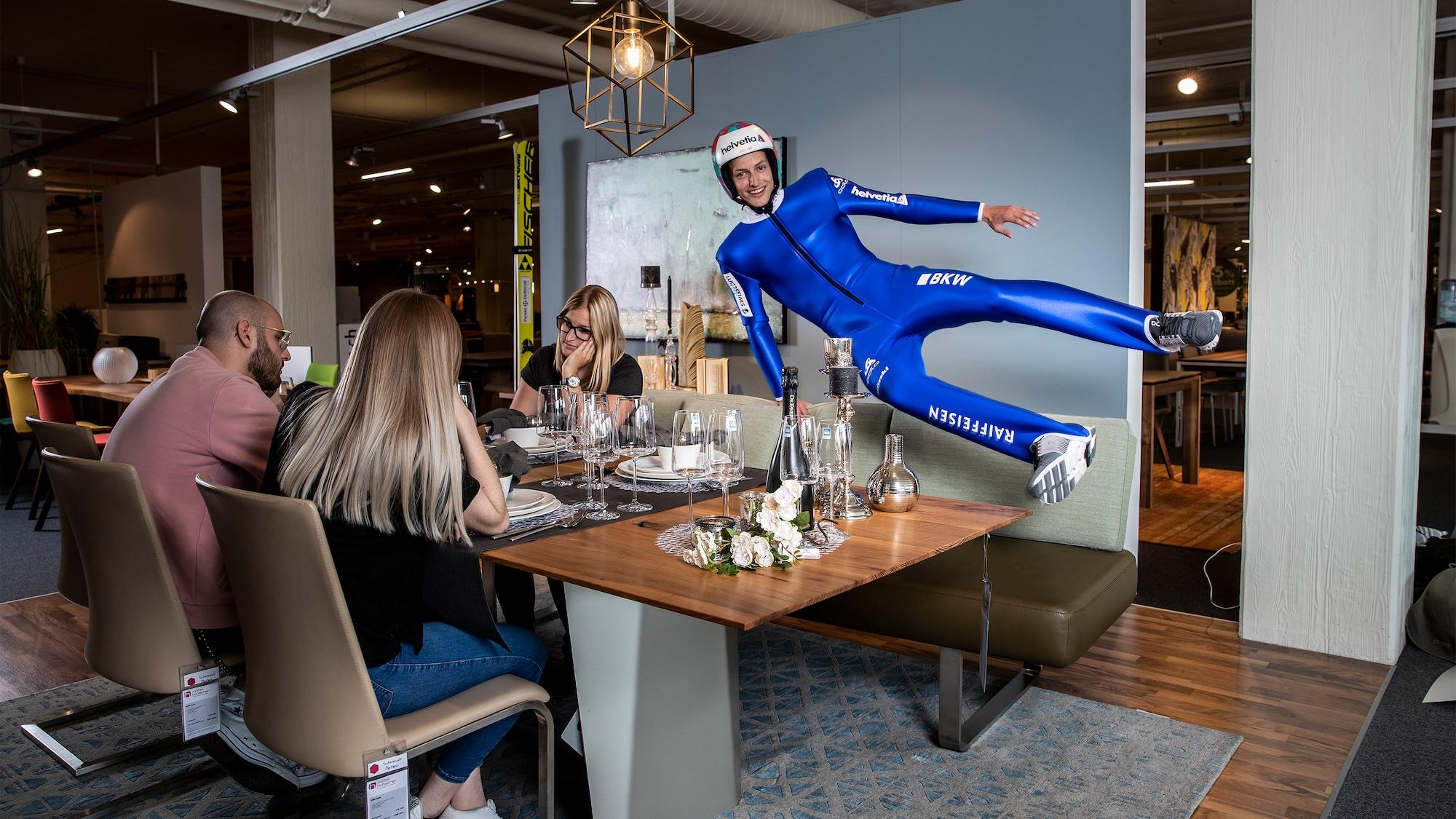 Sportfloskeln im wahren Leben: Skispringer Deschwanden ist zu spät am Tisch