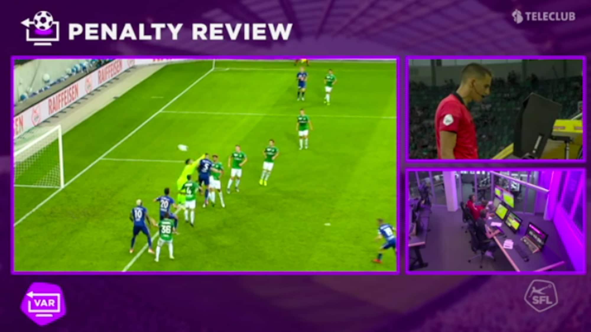 FCSG hadert mit dem Schiri: Hier entscheidet der VAR auf Penalty für Luzern