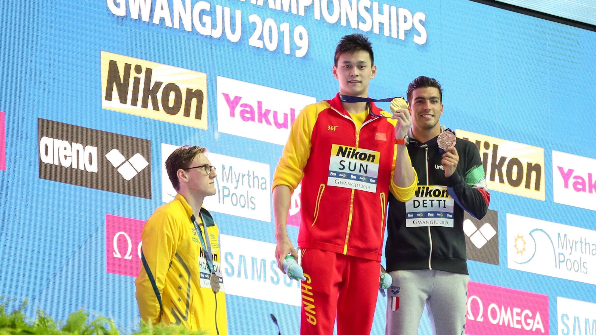 Riesen-Wirbel um Doping-Chinese: Schwimm-WM startet mit einem Eklat an Siegerehrung