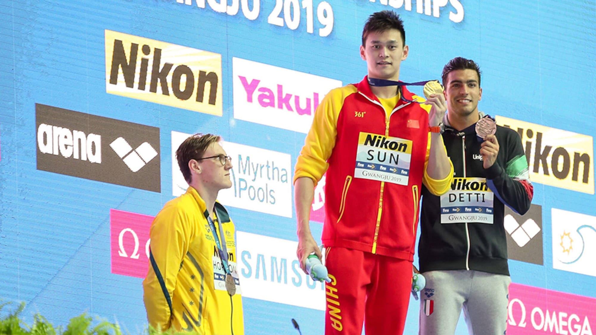 Wirbel um Doping-Chinese: Schwimm-WM startet mit einem Eklat an der Siegerehrung