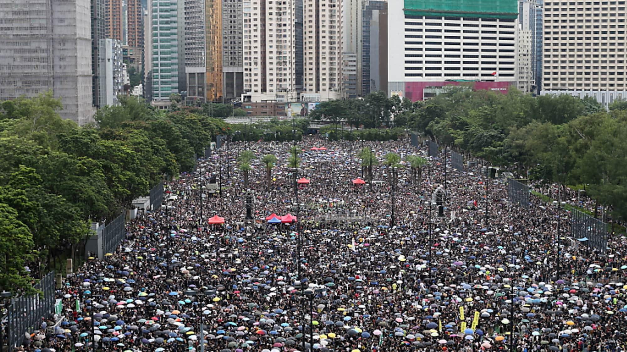 Massenproteste in Hongkong: Trump warnt China vor Gewalt wie bei Tiananmen