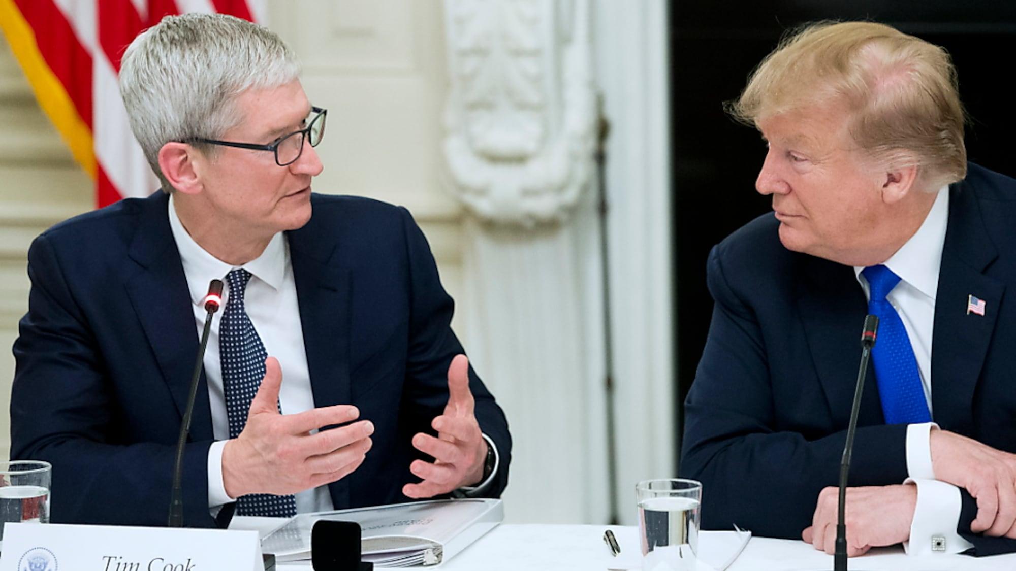 Informationstechnologie: Apple-Chef besorgt über Wettbewerbsnachteil durch US-Zölle