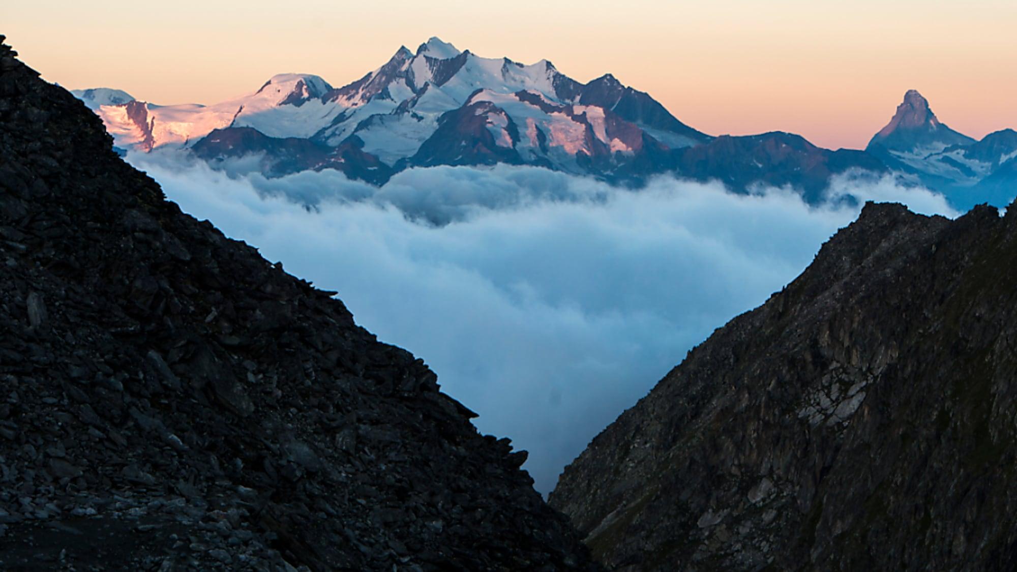 Bergunfall: Deutscher Alpinist stürzt beim Aufstieg zum Alphubel in den Tod