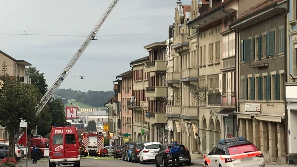 Untersuchung eingeleitet: Eine Person stirbt bei Brand in Romont FR