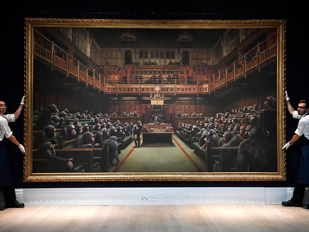 Banksy-Gemälde für Rekordpreis versteigert