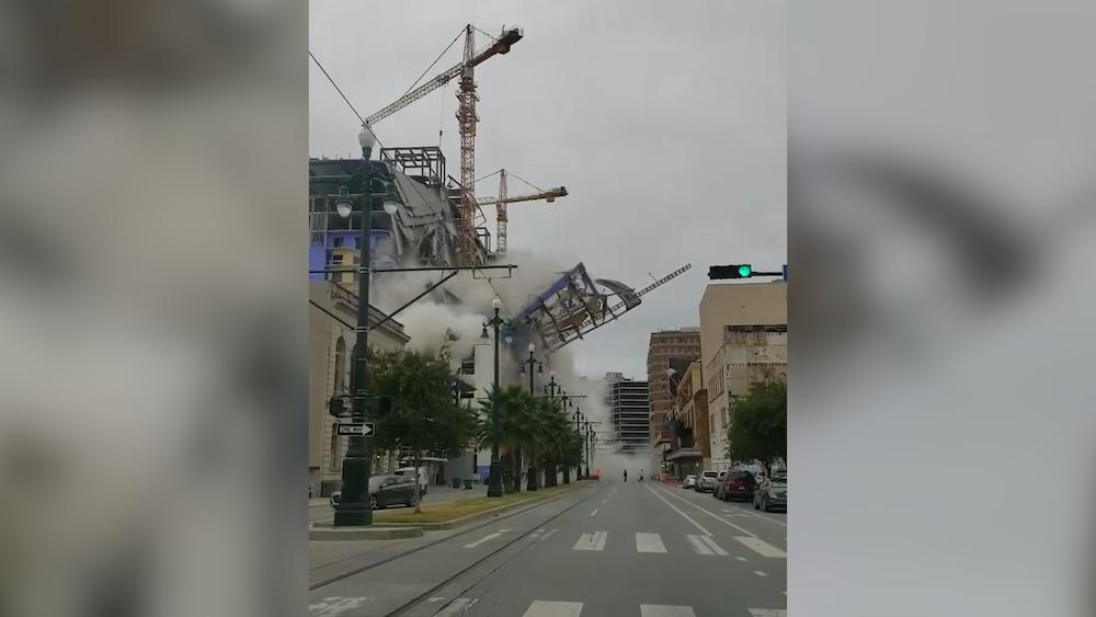 Hotel-Baustelle stürzt in sich zusammen – Video zeigt Einbruch