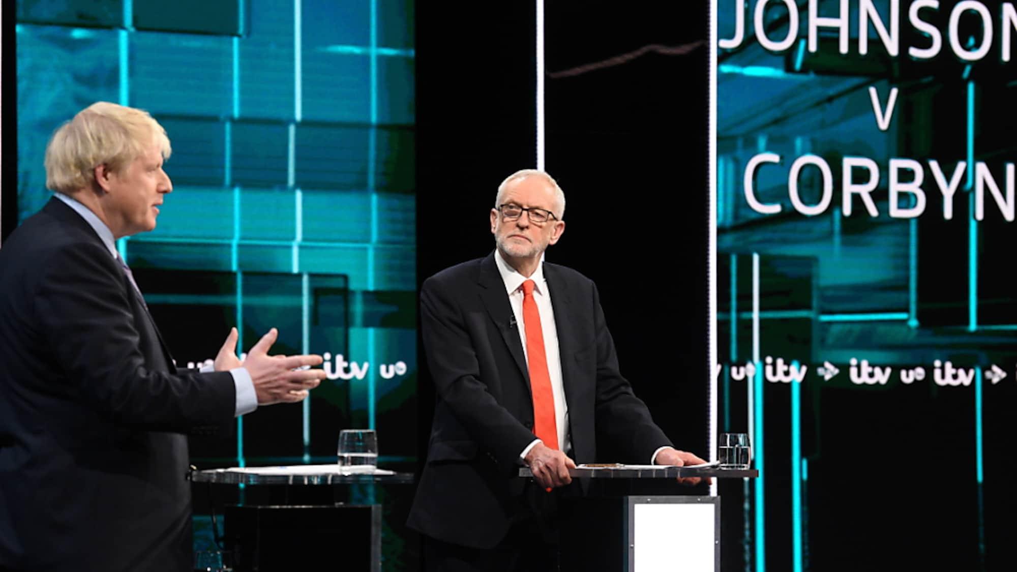 Grossbritannien: Wahldebatte Johnson-Corbyn - Handschlag und Schlagabtausch