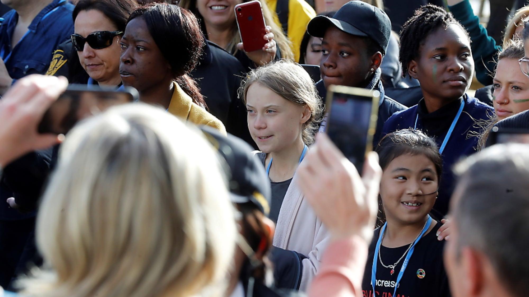 Klimamarsch am Abend: Rummel um Greta Thunberg in Madrid