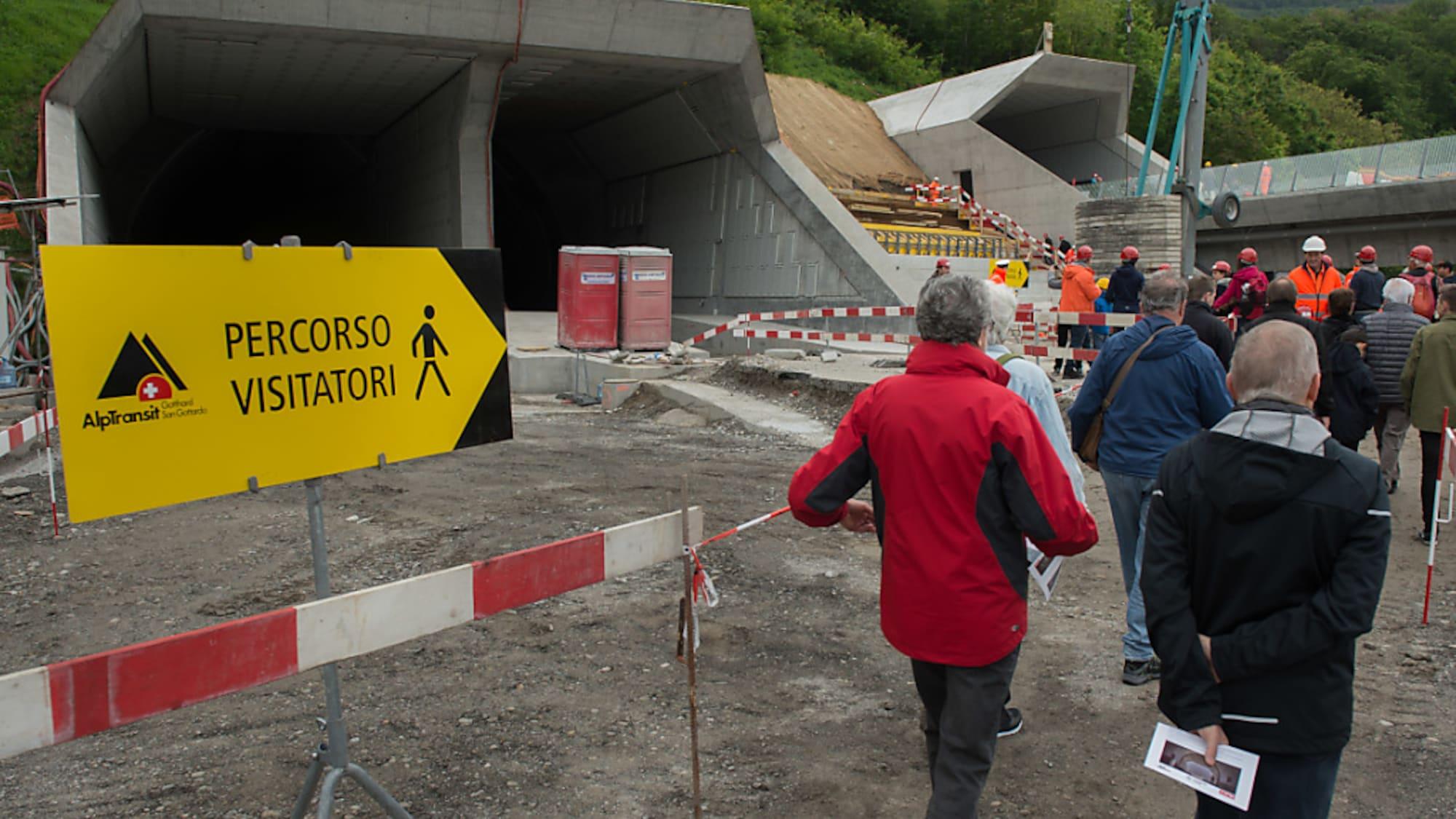 Bahn: 1,1 Millionen Menschen besuchen Tunnel-Baustellen der Neat