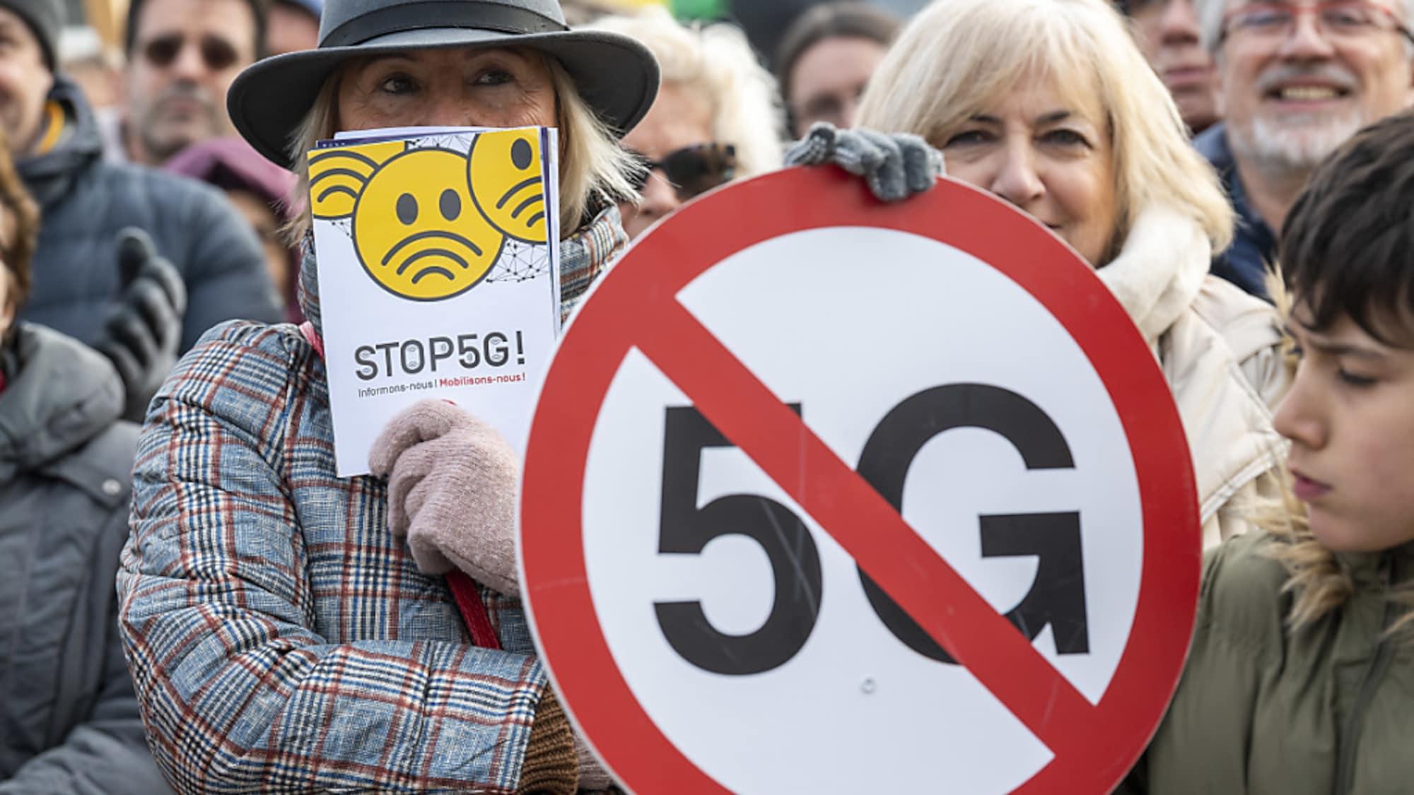 Hunderte Leute mobilisiert: Anti-5G-Demo in Schweizer Städten