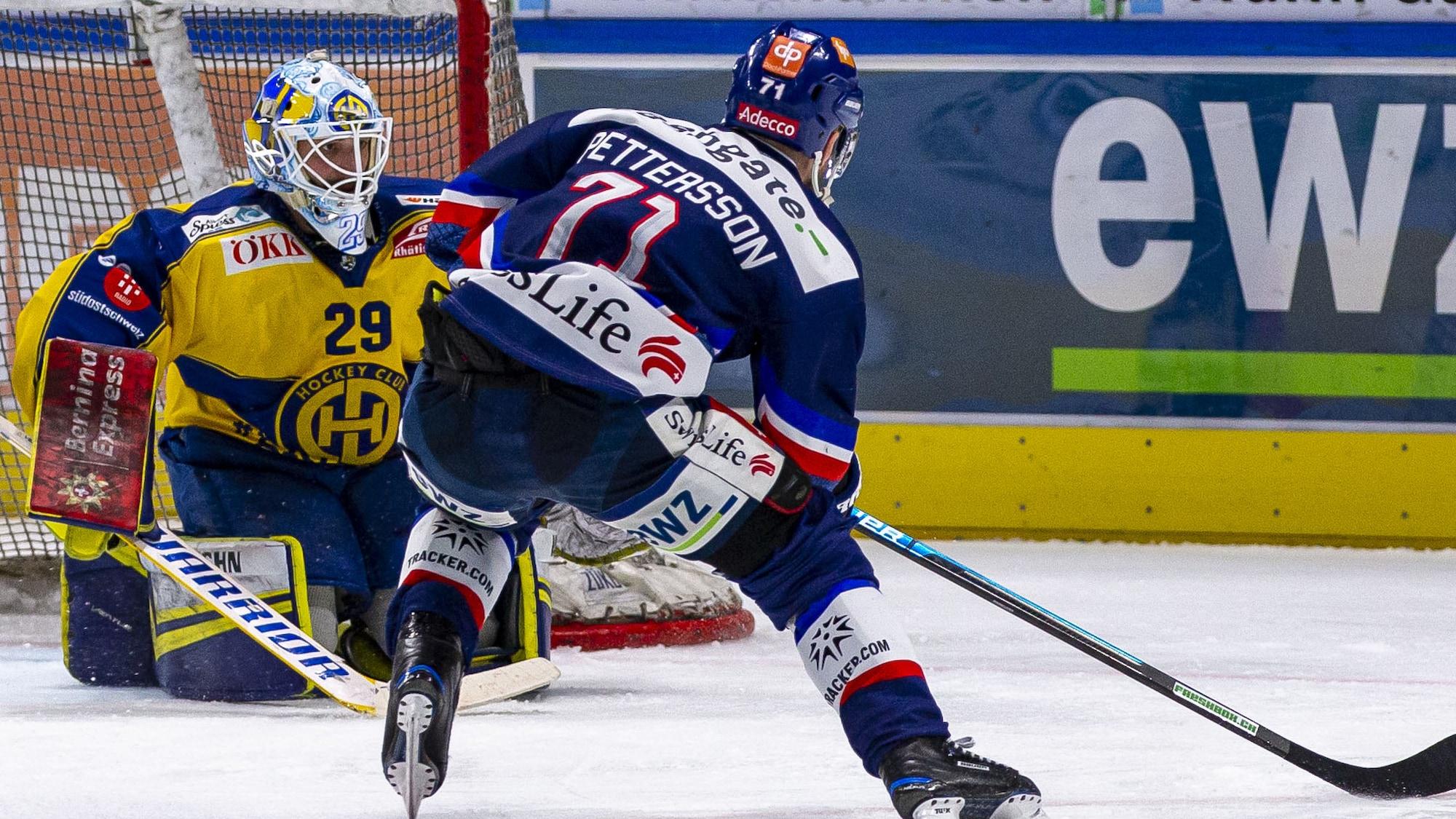 Beim 9-Tore-Spektakel gegen Davos: So beendet Pettersson die Partie in der Verlängerung