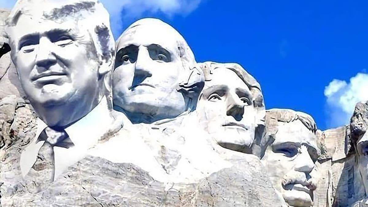 US-Präsident will sich ein Monument setzen: Trump träumt von sich neben Washington, Lincoln & Co