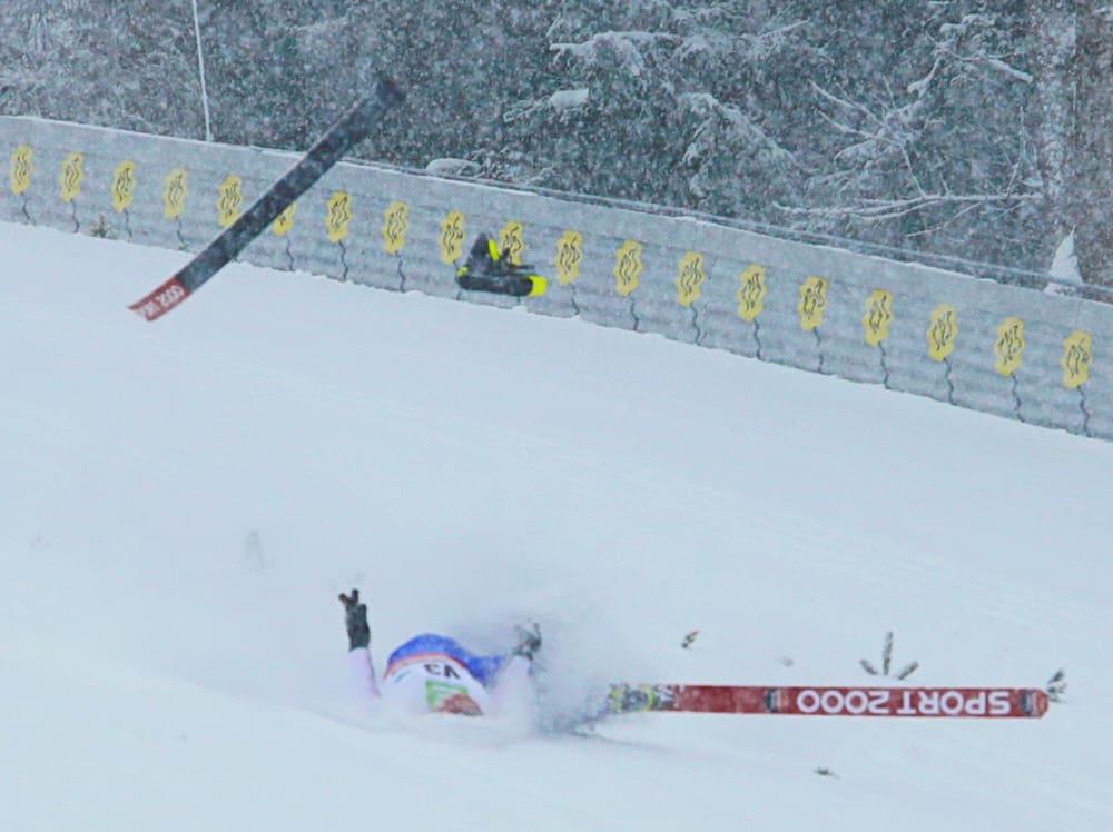 Sturzlinie Skispringen