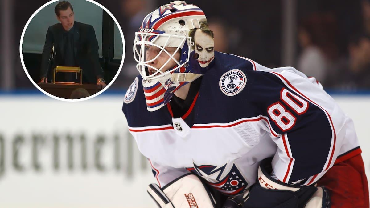 Merzlikins schildert unter Tränen das Feuerwerks-Drama um NHL-Goalie (†24)