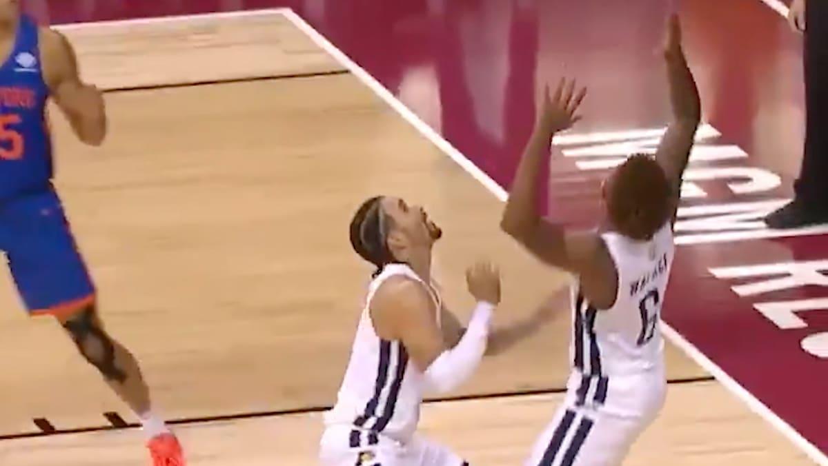 So schiesst dieser Basketball-Star einen Eigen-Korb