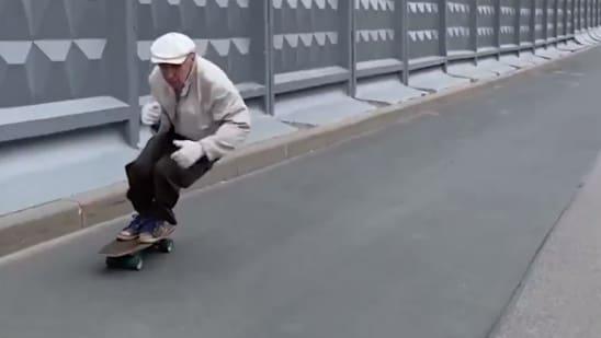 Russischer Skater-Opa wird zum Internet-Star