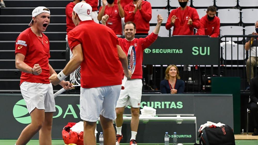Davis Cup: Schweiz gewinnt auch das Doppel gegen Estland