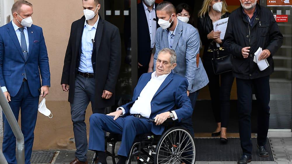 Czech president Milos Zeman in the clinic