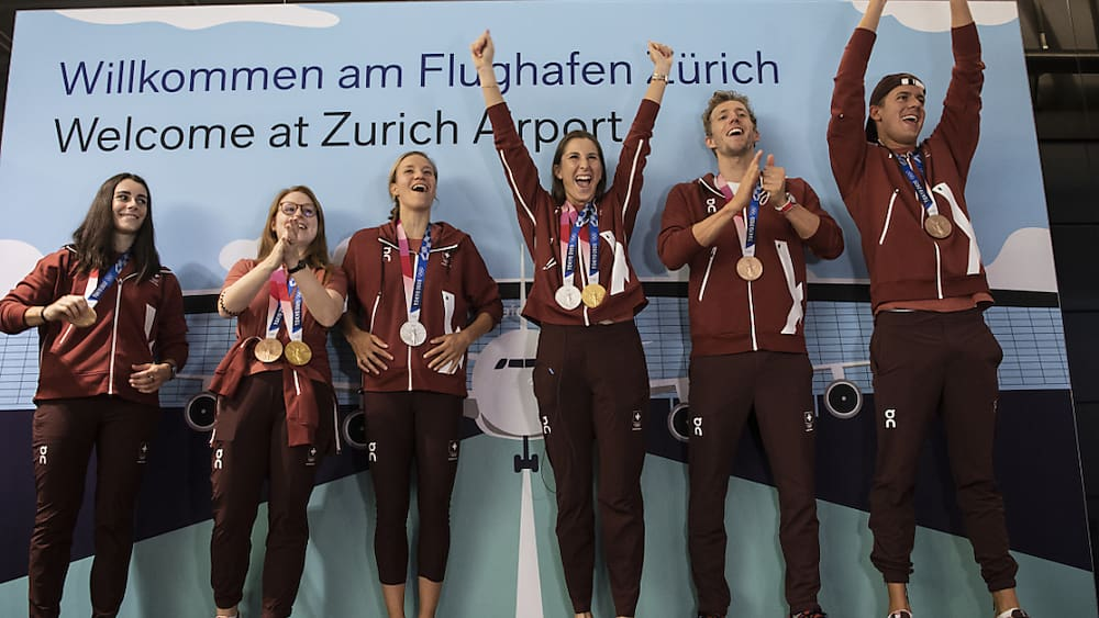 Olympische Sommerspiele: Empfang für erfolgreiche Sommer-Olympioniken in Magglingen BE