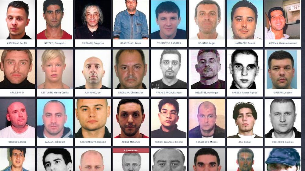 44 Männer Und Eine Frau Das Sind Europas Meistgesuchte Verbrecher