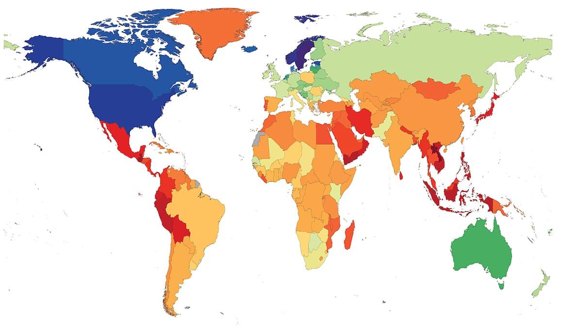 Männer durchschnittliche weltweit körpergröße Körpermaße nach