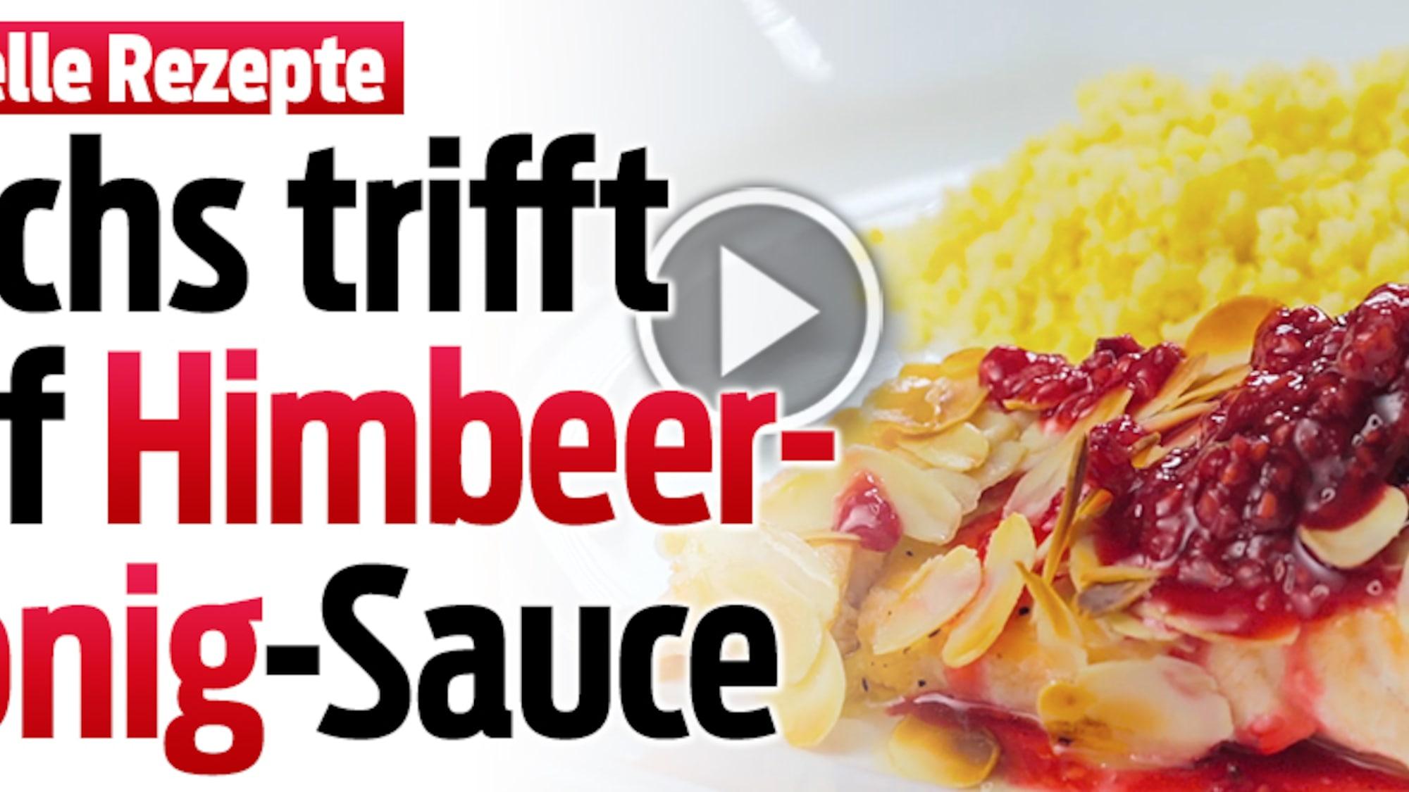 Schnelle Rezepte: Lachs trifft auf Himbeer-Honig-Sauce