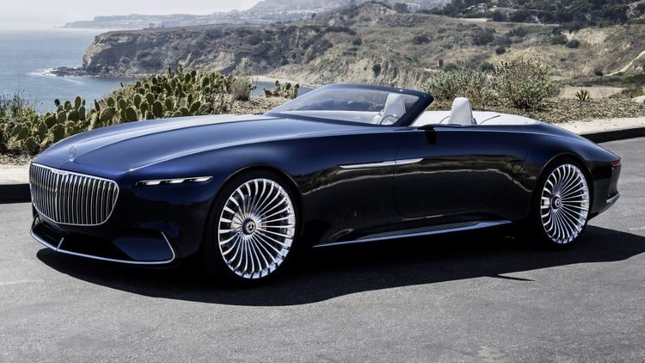 neuer milliardärstraum: vision mercedes-maybach 6 cabrio - blick