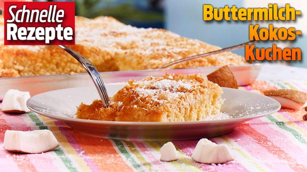 Saftigen Buttermilch Kokos Kuchen Ganz Einfach Selber Backen Blick