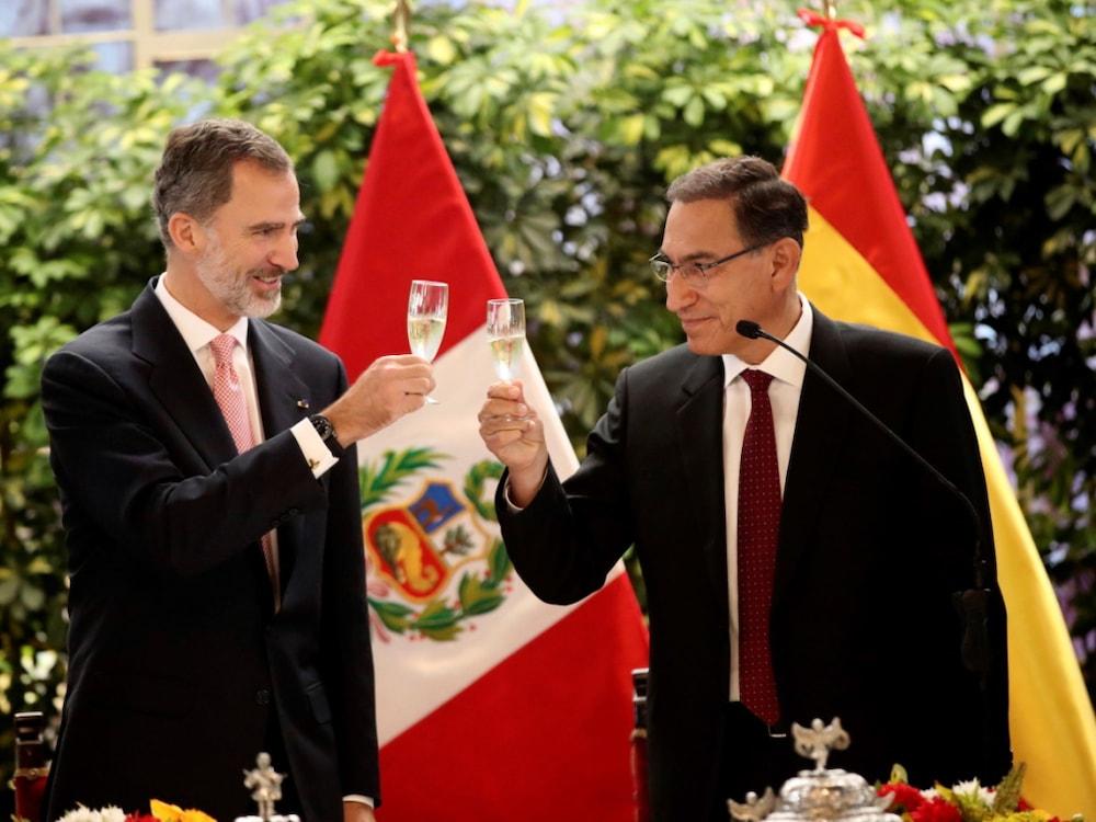Spanisches Königspaar zu Staatsbesuch in Peru
