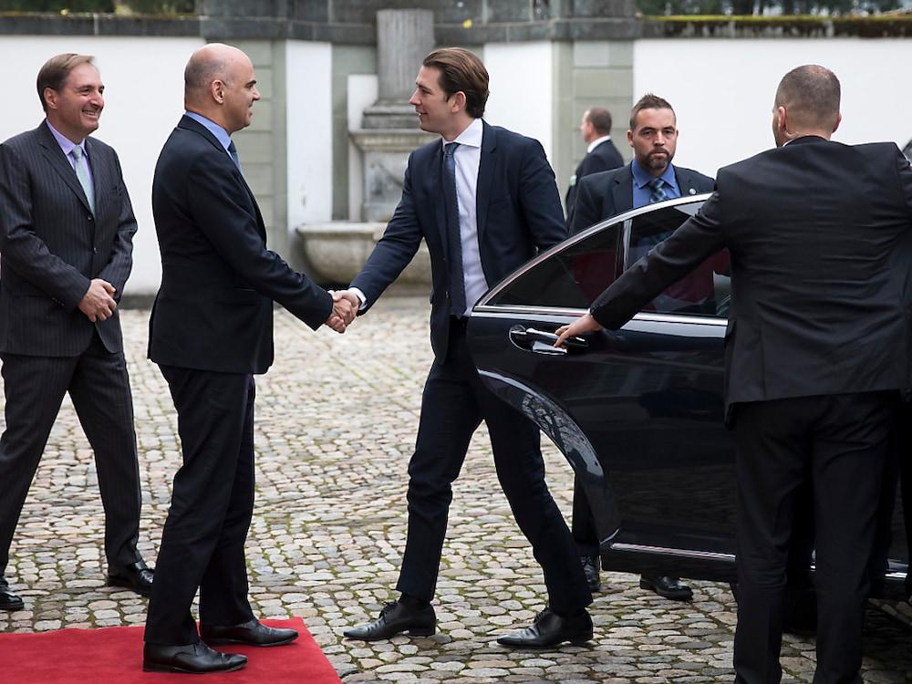 Bundeskanzler Sebastian Kurz besuchte Bundespräsident Berset
