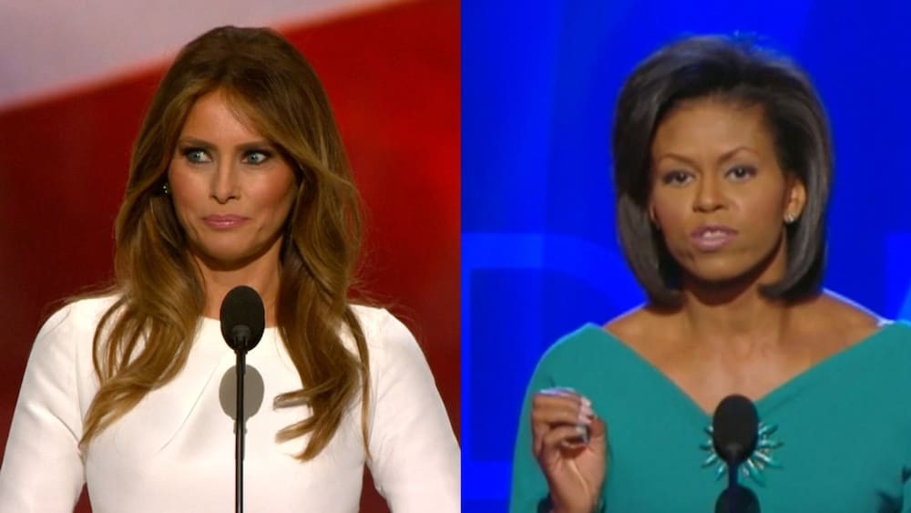 Michelle Obama Rede Trump